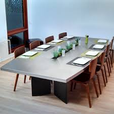 custom stainless steel dining table sarabi studio