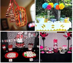 Neon Themed Decorations Pink And Black 30th Birthday Decorations Party Themes Inspiration