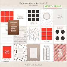 6x8 photo album december you are my fave no 5 mini albuml kit by paislee press