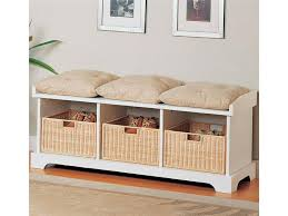 entryway bench with baskets and cushions 22 best indoor benches images on pinterest entryway storage