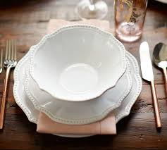 leila 16 dinnerware set white pottery barn
