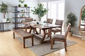 Dining Table And 2 Benches Furniture Of America Gianna Dining Table U0026 Chairs Bench Set