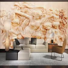 3d Wallpaper For Bedroom by 3d Wallpaper Bedroom Mural Roll Modern Roman Style Cherub Angel