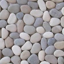 pebble tile natural stone tile the home depot solistone 10 pack anatolia pebbles white onyx natural stone mosaic