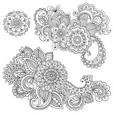 henna coloring pages printable free coloring kids kids