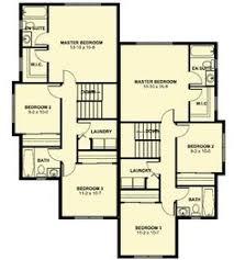 Rental House Plans Plan 59370nd Contemporary Duplex Plan Duplex Plans House And