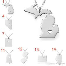 usa map just states wholesale 50 state america map necklace titanium new