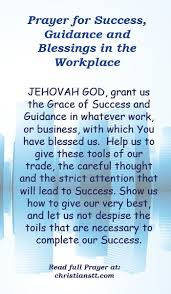 prayer for success guidance and blessings in the workplace