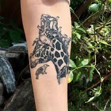 birds and giraffe tattoo best tattoo ideas gallery