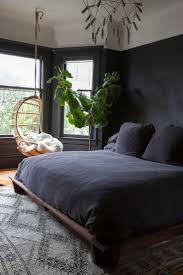 Black Feature Wall In Bedroom Black Walls In Bedroom Home Designs