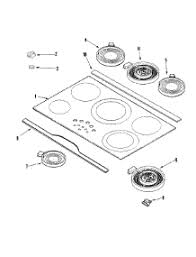 Cooktop Glass Repair Parts For Jenn Air Jec9536ads Cooktop Appliancepartspros Com