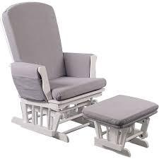 chaise bascule allaitement fauteuil d allaitement tissu blanc gris de quax fauteuils et