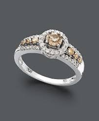 levian engagement rings le vian chocolate and white ring in 14k white gold 3 4 ct