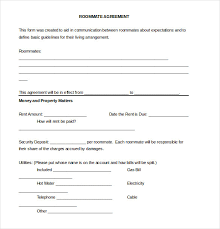 free roommate agreement template sample roommate contract gse bookbinder co