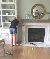 How To Build Fireplace Surround by Diy Wood Beam Mantel