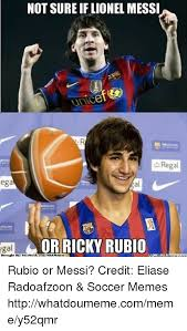 Facebook Soccer Memes - not sure if lionel messi ega or ricky rubio brought by facebook cona