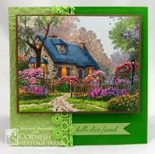 birthday card using kinkade st with watercolors