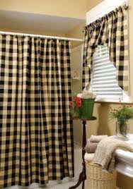 Black Check Curtains Burlap Black Check Shower Curtain Burlap Check And Primitives