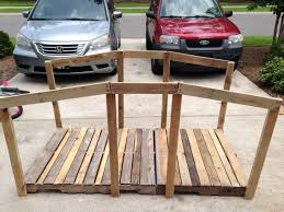 bridge made from reclaimed pallet wood made for vbs 2015 theme