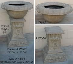 faux concrete planter u0026 base in architectural elements