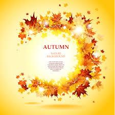 beautiful autumn leaves card 03 vector free vector 4vector
