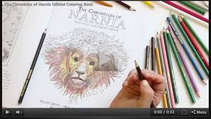 chronicles narnia official coloring book official