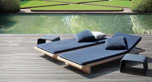 outdoor chaise lounge used poolside on hopen place paola lenti