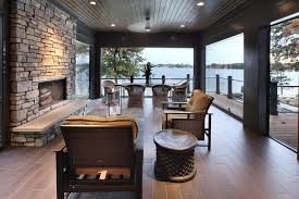 screened porch flooring porch rustic with muskoka room blade