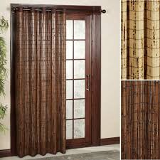 Patio Door Curtain Rod Brown Vertical Window Treatments From Bamboo Grommet Panels To