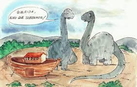 Adão e Eva brincavam com dinossauros...
