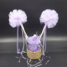 aliexpress com buy purple pom wands purple baby shower