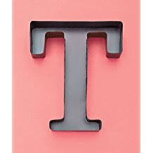 monogram letter t personalized letter t metal wall wine cork holder