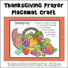 thanksgiving placemat with poem craft from www daniellesplace