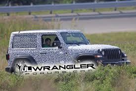 jeep wrangler 2 door hardtop 2017 spied wrangler 2 door jl rubicon soft top and export jl sport