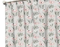 Flamingo Shower Curtains Flamingo Shower Etsy