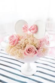 floral arrangement topped minnie mouse ears elegant