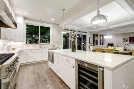 white shaker kitchen cabinets backsplash gourmet kitchen features white shaker cabinets with marble countertops