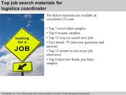 Sample Resume Logistics Coordinator by Logistics Coordinator Cover Letter