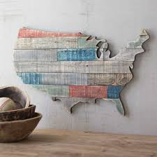 usa recycled wooden map rustic hanging wall