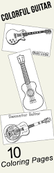 download coloring pages guitar coloring electric guitar