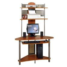 Tower Computer Desk A Tower Computer Desk W Hutch In Pewter Cherry Finish Walmart