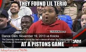 Terio Memes - lil terio at a pistons game http weheartnyknicks com nba funny