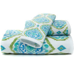 Home Design Brand Towels Tangier Printed Bath Towels Everything Turquoise