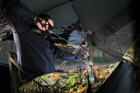Bow Hunting Box Blinds Should You Shoot Through Ground Blind Mesh Petersen U0027s Bowhunting