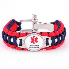 adjustable paracord bracelet images Warfarin medicated medical alert adjustable paracord bracelet JPG