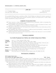 Sample Resume For Software Engineer With Experience by Java Resume Sample Free Resume Example And Writing Download