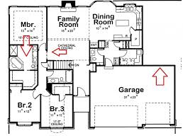 One Floor House Plan by Plans With Open Plan Home Plans With Attic Rooms One Story House