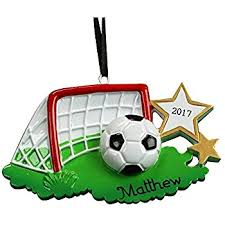 soccer ornaments to personalize 2482 soccer personalized christmas ornament