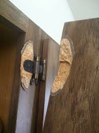 can you replace cabinet hinges is there any way to fix a hinge pulled out of particle board