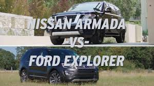 nissan armada year differences nissan armada vs ford explorer autonation youtube